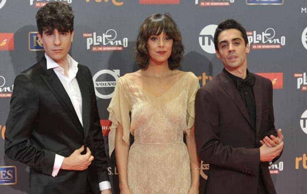 Javier Ambrossi, Belen Cuesta and Javier Calvo attend the 'Platino Awards 2017' (Photo by Juan Naharro Gimenez-WireImage)