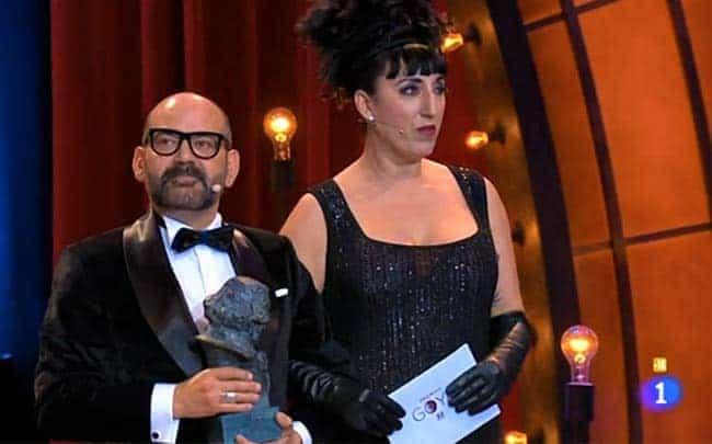 José corbacho y Rossy De Palma en los Premios Goya