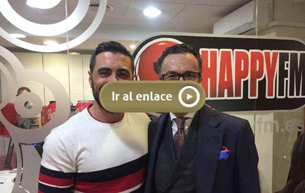 Bere Casillas en en programa de radio Happy FM