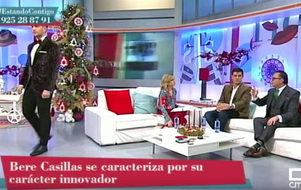 """Bere Casillas en programa de televisión """"Estando Contigo""""."""