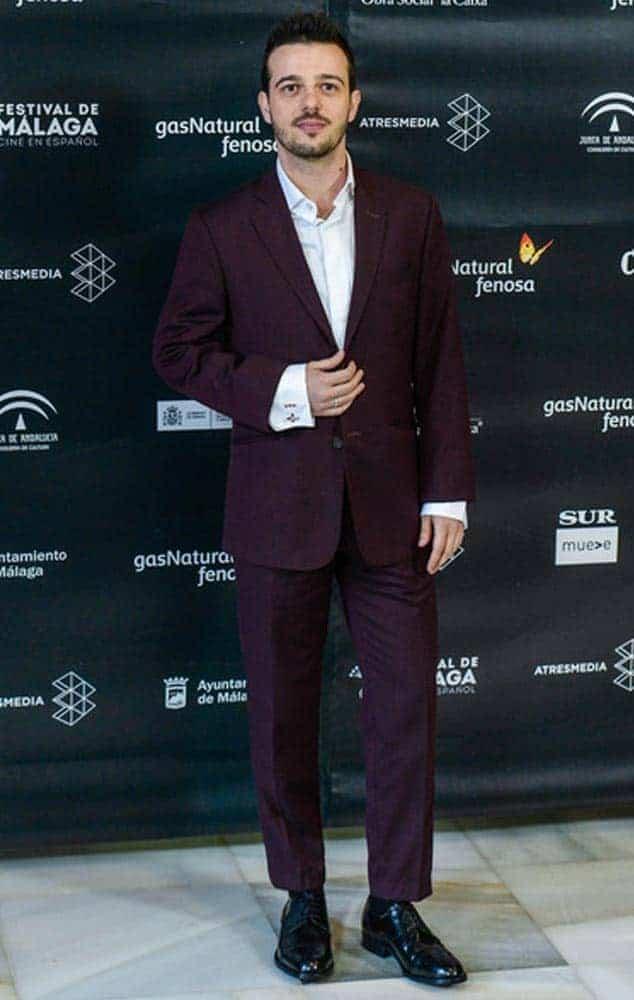 Fernando Tielve con traje de Bere Casillas en el Festival de Málaga