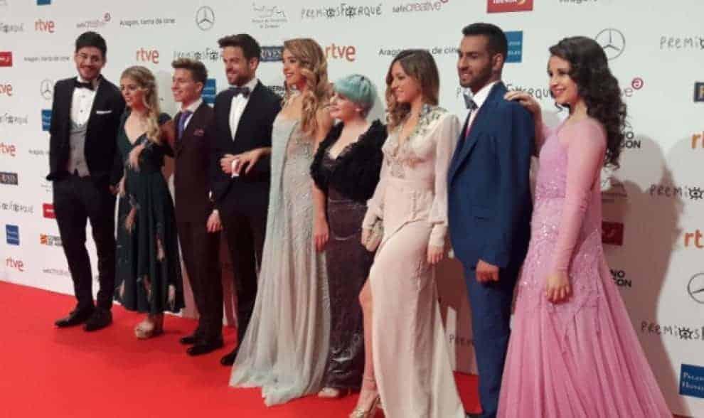 Los chicos de OT vestidos por Bere Casillas en los Premios Forqué