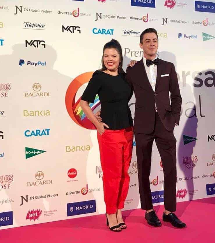 Víctor Palmero de Bere Casillas en los Premios Deversa en Madrid.
