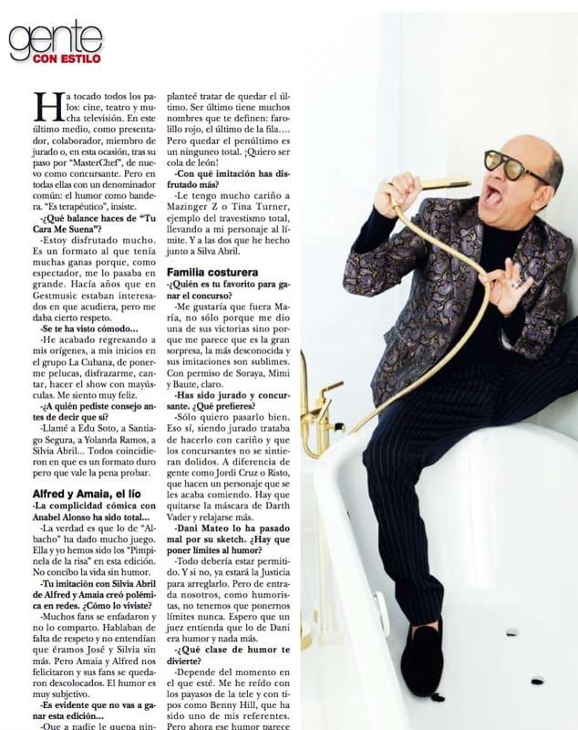 Corbacho entrevistado con traje Bere Casillas