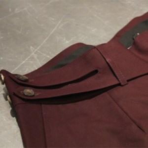 Pantalón a medida hebilla doble con botón