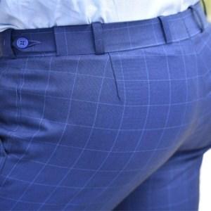 Pantalón a medida hombre casual cuadro ventana.