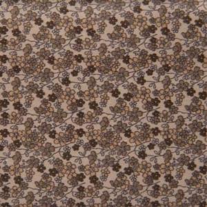 Camisa a medida algodón flores marrones