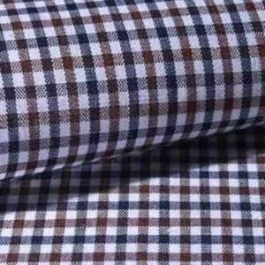 Camisa a medida cuadros marrones
