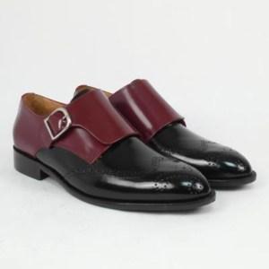 Zapato personalizado bicolor una hebilla