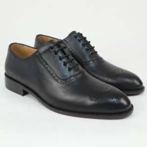 Zapato personalizado cruch negro picado