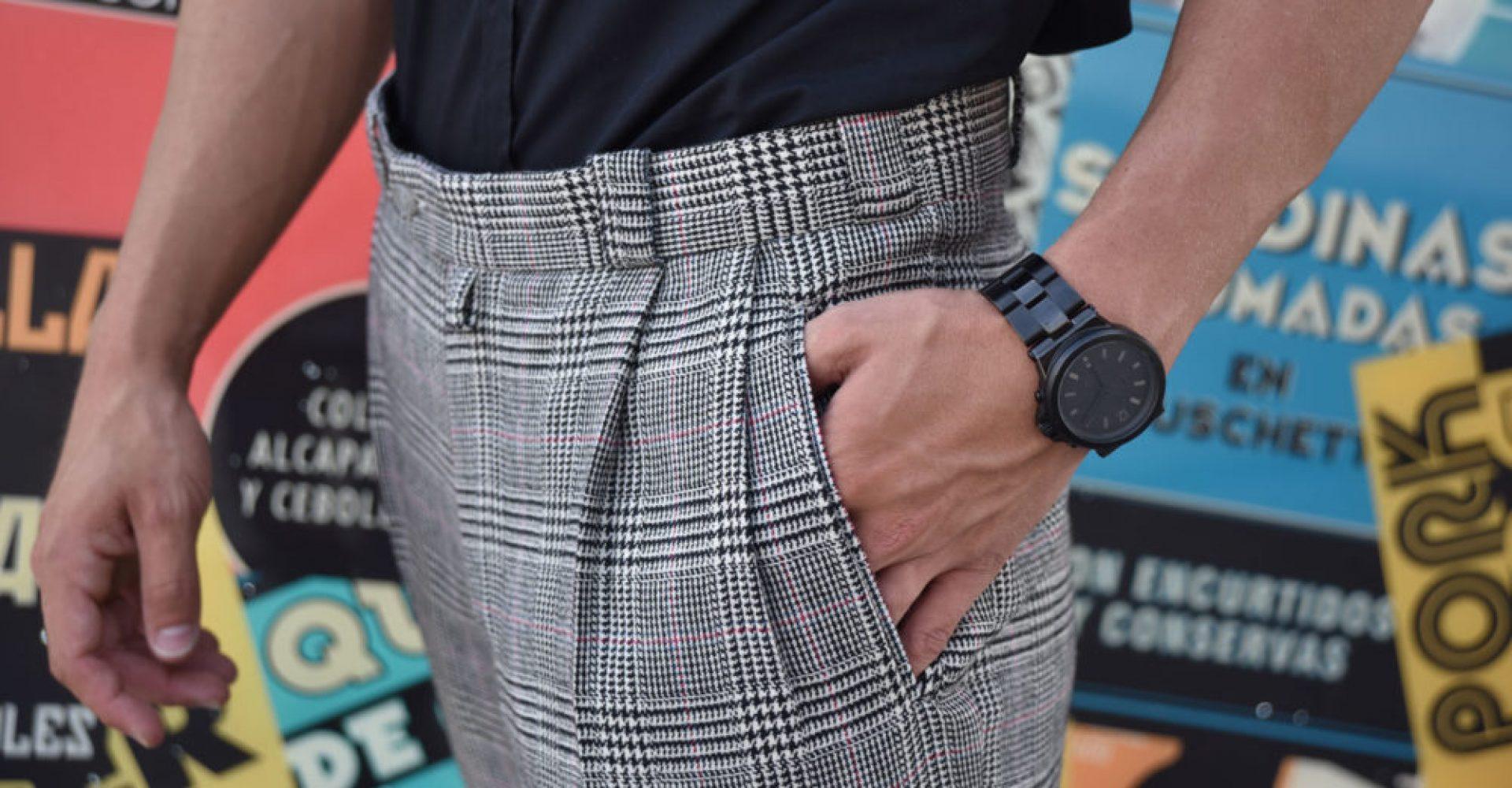 pantalón a medida cuadro tartán